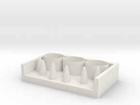 Ring storage box in White Natural Versatile Plastic
