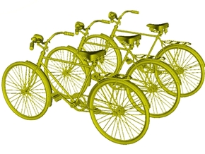 1/25 scale WWII Wehrmacht M30 bicycles x 3 in Smooth Fine Detail Plastic