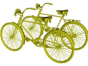 1/25 scale WWII Wehrmacht M30 bicycles x 2 in Smooth Fine Detail Plastic