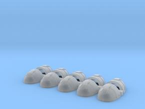 Gauntlets Of Metal V1 Thunder Style Shoulder Pads in Smooth Fine Detail Plastic