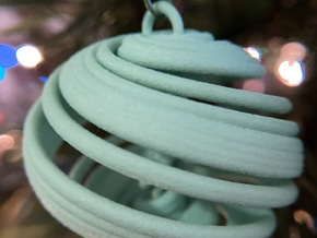Langford Chaotic Attractor Ornament in Green Processed Versatile Plastic