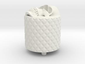 Skull BackCap Longer Length Emek/Etha2/MG100  in White Natural Versatile Plastic