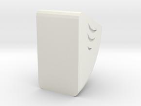 Horn in White Natural Versatile Plastic: 1:10