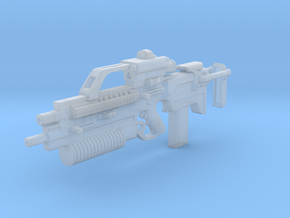 Q43B bullpup assault rifle 1:6 in Smooth Fine Detail Plastic