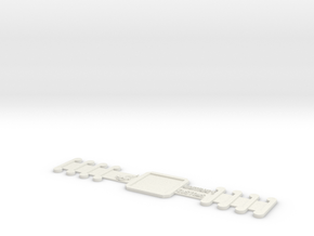 Customizable Surgical Mask Strap Extender in White Natural Versatile Plastic