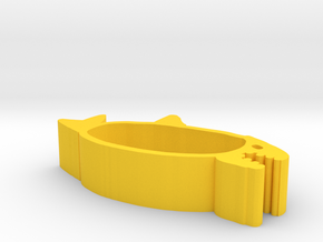 Shark bathtub in Yellow Processed Versatile Plastic