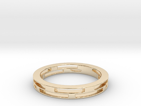 Squares Dalecarlia (Size 7) in 14K Yellow Gold