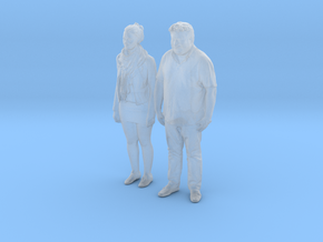 Printle C Couple 360 - 1/87 - wob in Smooth Fine Detail Plastic