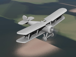 Sopwith Snipe (early, various scales) in White Natural Versatile Plastic: 1:144