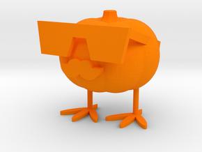 Cool Pumpkin Duck in Orange Processed Versatile Plastic