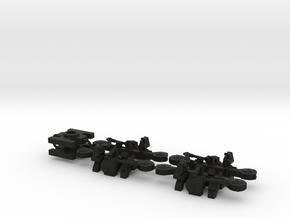 Tatra tram 1000 mm bogie kit - 0 scale [2x bogie] in Black Natural Versatile Plastic: 1:48 - O
