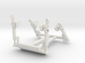 Latches-1to8 in White Natural Versatile Plastic