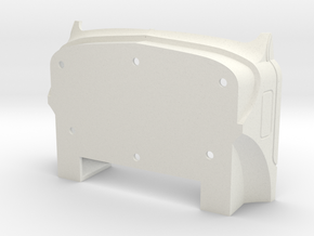Front-end-CabShell-B61-1to8 in White Natural Versatile Plastic