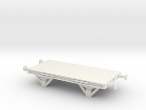 SR Flatcar in White Natural Versatile Plastic