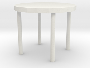 table in White Natural Versatile Plastic: Medium