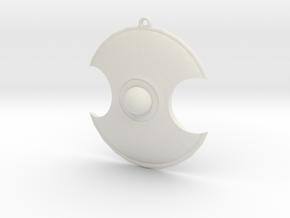 Shield in White Natural Versatile Plastic