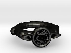 Black Illusion Ring in Matte Black Steel