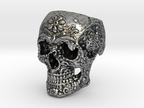 calavera in Antique Silver