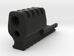 1911C J.W. Frame Mount Compensator 10-Slots Rail in Black Natural Versatile Plastic
