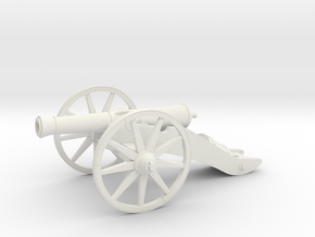 French cannon (1812) in White Natural Versatile Plastic: 1:60.96