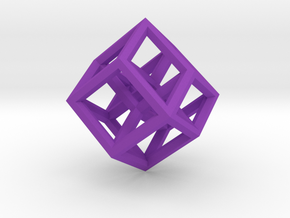 Hypercube Pendant in Purple Strong & Flexible Polished: Medium