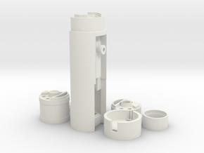 Korbanth LS Hero V1 Proffie/Neopixel Chassis in White Natural Versatile Plastic