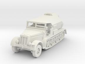Sdkfz 7/3 Feuerleitpanzer 1/72 in White Natural Versatile Plastic