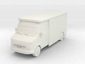 Mercedes Armored Truck 1/87 in White Natural Versatile Plastic