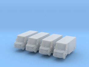 Mercedes Armored Truck (x4) 1/500 in Smooth Fine Detail Plastic