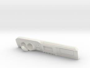 RCN287 Short Dashboard for Pro-Line Rock Van in White Natural Versatile Plastic
