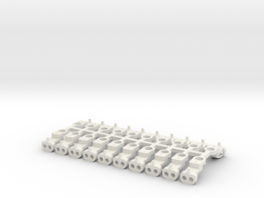 Magno-Electro Couplings for Tillig (Short) x20 in White Natural Versatile Plastic