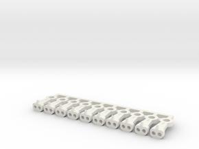 Magno-Electro Couplings for Liliput (Medium) x10 in White Natural Versatile Plastic