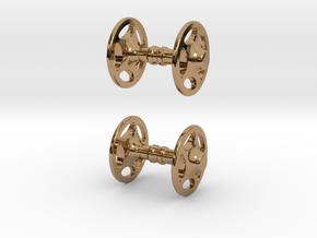 Sheriff Star Bicycle Hub Cufflink in Polished Brass
