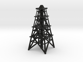 Oil Derrick in Black Natural Versatile Plastic