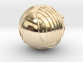 Golden Snitch (Solid Metal) in 14k Gold Plated Brass