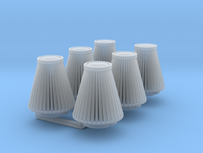 cone 1/24 air filter x6 in Smooth Fine Detail Plastic