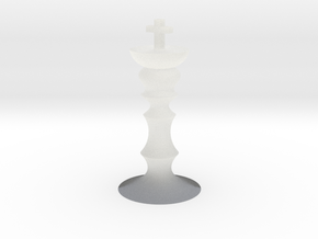 Tiny chess king in Smooth Fine Detail Plastic