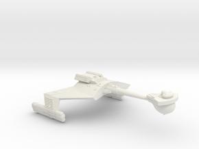 3125 Scale Klingon D7W Heavy Command Cruiser  in White Natural Versatile Plastic