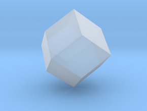 Rhombic Dodecahedron - 10 mm in Smooth Fine Detail Plastic
