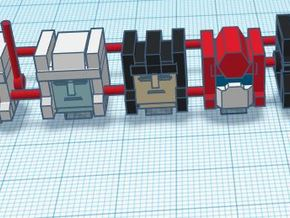 Heads for Protectobot Kreons (Set 2 of 2) in Smooth Fine Detail Plastic