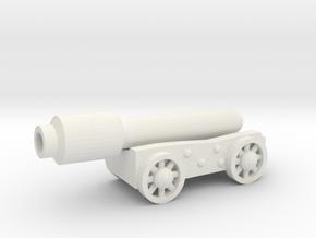 Cannon v2 in White Natural Versatile Plastic