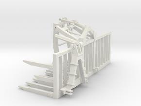 1/87 TA81 mit Greifer 4m Arbeitsbreite in White Natural Versatile Plastic: 1:87 - HO