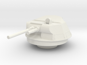 M113A1 T-50 Turret 1/30 in White Natural Versatile Plastic