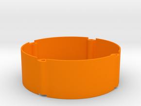 Mini wheel spacer with no holes 20mm in Orange Processed Versatile Plastic