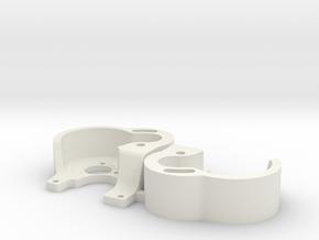 130 SCX24 V3 LCG Motor Plate x2 in White Natural Versatile Plastic