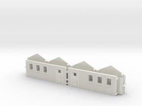 1/144 set of 2 small German baracks in White Natural Versatile Plastic