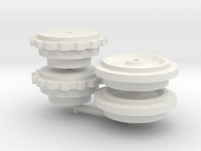 Liebherr HS88xHD - sprocket+idler for Bymo tracks in White Natural Versatile Plastic