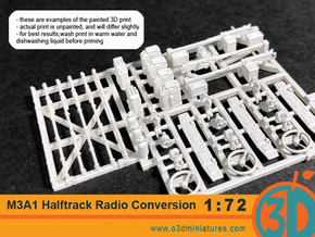 US Halftrack Detail Set 1/72 scale in Smooth Fine Detail Plastic