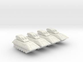 285 Scale Lyran Tanks CVN in White Natural Versatile Plastic