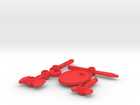 MicroAccessories1 (Acroyear) in Red Processed Versatile Plastic